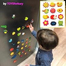 1 Conjunto de imán para el refrigerador pegatinas de dibujos animados de animales del alfabeto números de niños juguetes para niños educativos del bebé