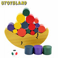 UTOYSLAND Moon Balancing Frame Baby Toys Children's Educational Wooden Puzzle Force Heap Tower Toys