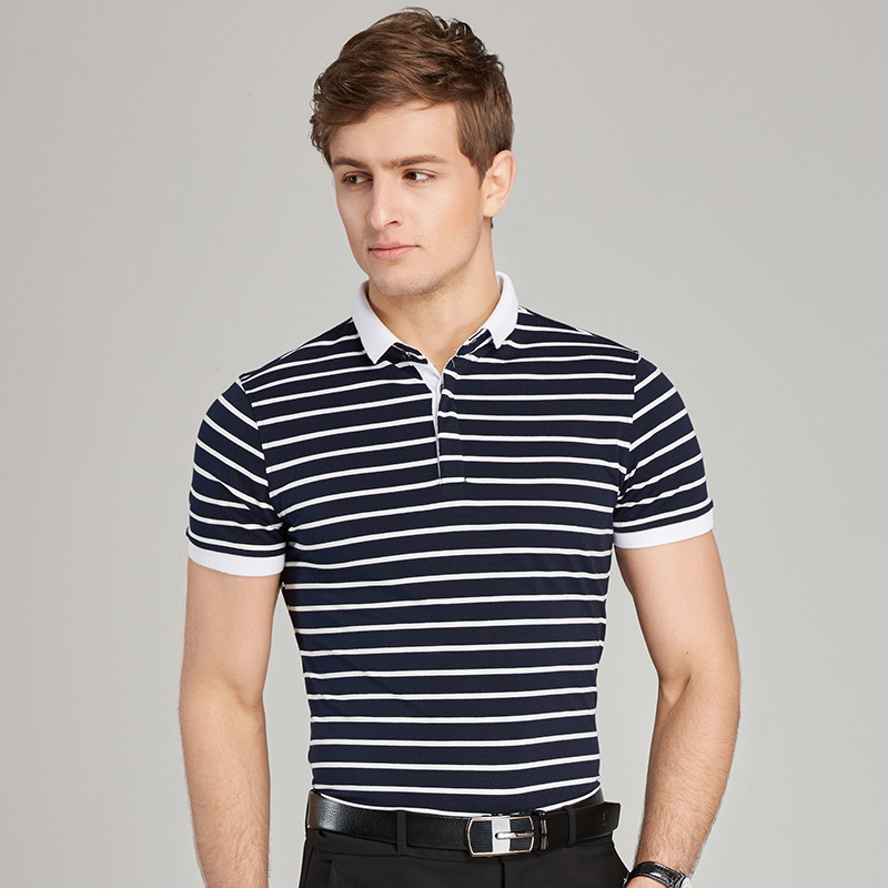 Design England Style Striped 2019 Brand Fashion   Polo   Shirts Short Sleeve Men Summer Cotton Breathable Tops Tee ASIAN SIZE M-5XL