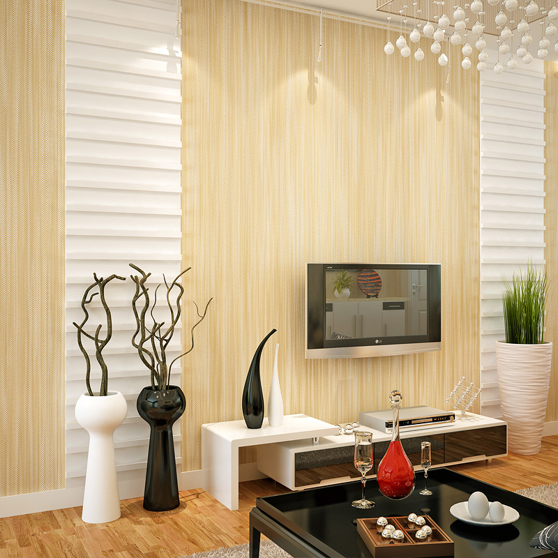 Beibehang Modern simple plain color linen wave point striped 3D wallpaper living room restaurant desktop background 3D wallpaper