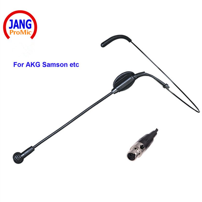 Profesyonel Kablolu Kulaklık Mikrofon Öğretmen Kondenser Mikrofonun AKG Samson Kablosuz Mikrofon Sistemi için Mini XLR 3 p Mikrofon