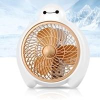 Mini Cooling Fan 2 Gear Speed 220V Ventilador Cute Baymax Electric fan 2 Colors