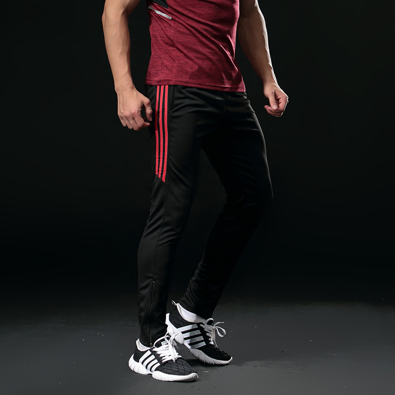 Sport Hosen Männer Mit Zipper Taschen laufhose Fußball Fußball Training Hosen Fitness jogging Elastizität Sport Hosen 318