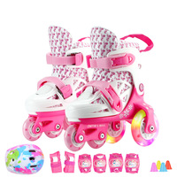 Child New PP Three Point Roller Skates Shoes Two Line Roller Skating Shoe Unisex Adjustable Easy For Kid Beginner Patines IB27