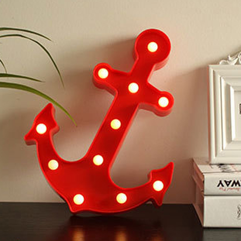 US $11 77 |Creative Gift Decoration Anchor LED Night Light AA Battery  Switch Pirates of the Caribbean Black Pearls Anchor Home Decor Lamp-in LED  Night