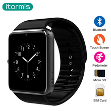itormis bluetooth Smart Watch Clock Smartwatch wearable devices SIM TF Card Camera Push Message Android Phone
