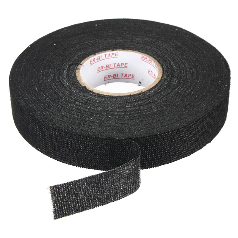 popular wire harness tape buy cheap wire harness tape lots from mtgather anti wear adhesive cloth fabric tape cable looms wiring harness black tapes 25mmx25m non