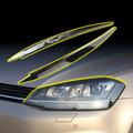 For Volkswagen VW GOLF 7 ABS Chrome headlight trim lamp eyebrow headlight cover trim decoration for GOLF7 GTi MK7