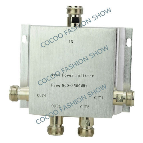 Power Splitter 800~2500MHz N 4 way RF Power Divider For GSM CDMA DCS 3g Repeater Signal Booster