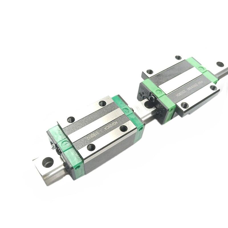 Envío gratis 2 unids carril lineal de HGR20 L = 100, 200, 300, 500 ~ 1500mm y 4 unids HGH20CA o HGW20CC lineal guía bloque cnc - 2