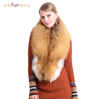 Luxurious 100% Real Fox Fur Collar Women Natural Fur Shawl Luxury Scarf Women Real Red Fox Down Wear Fluffy Scarf Wholesale