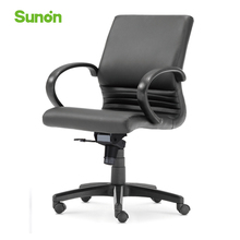 Adjustable Ergonomic Boss Chair High Quality Leather Black Chairs Comfortable Computer Chair Middle Back Lifting Function