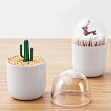 1pc Plastic Egg-shaped Toothpick Holder Transparent Cotton Swab Box Small Q-tips Organizer Kitchen Gadget Storage Home Decor