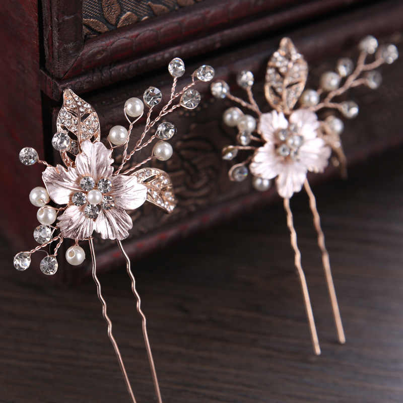 gold hair pin wedding hair pin wedding hairpin Bridal hair pins pins pearl hair pins freshwater pearls