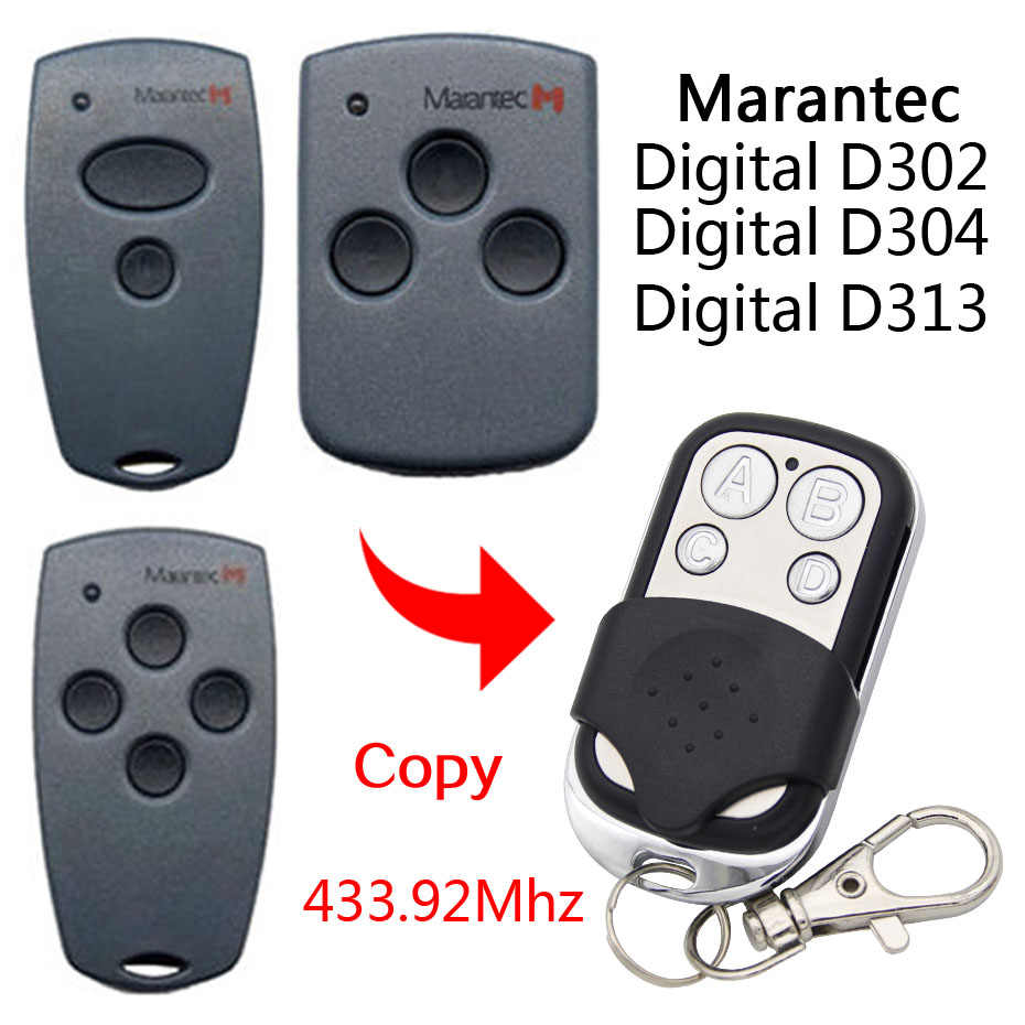 433mhz//868Mhz Electric Garage Remote Control For Marantec D302//304//313//312 Clone