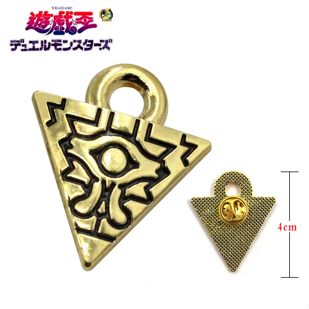 Giancomics Yu-Gi-Oh! Hot Anime Millennium Puzzle Wisdom Wheel Metal Pin Badge Brooch Chestpin Costume Accessories Ornament Decor