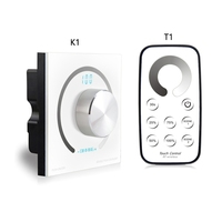 Switch knob Wall mounted Single Color/CCT/RGB Rotary Dimmer Controller & RF Wireless Remote For Led Stirp DC12V 24V