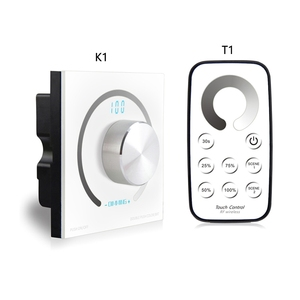 Switch knob Wall-mounted Single Color/CCT/RGB Rotary Dimmer Controller & RF Wireless Remote For Led Stirp DC12V-24V