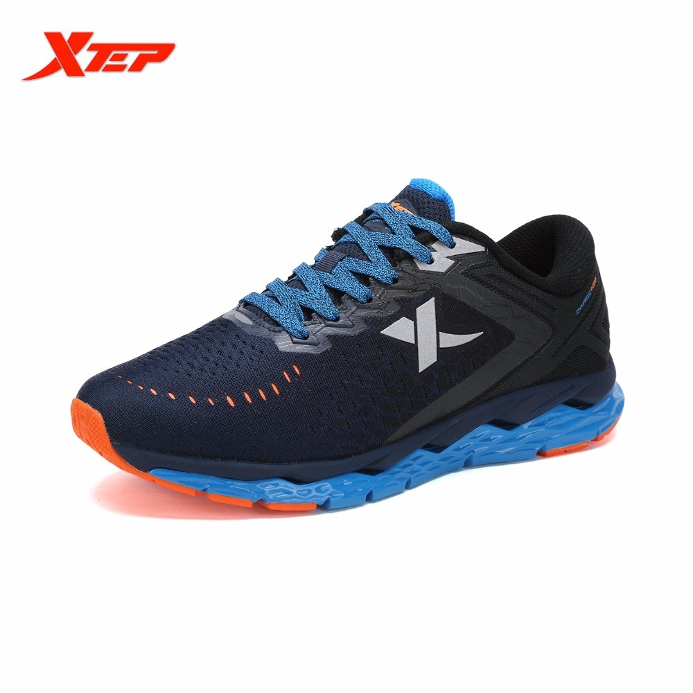 XTEP Brand Professional Running Shoes For Men Damping Sports Run DMX Techonology Athletic Trainers Sneakers Honeycomb Sole