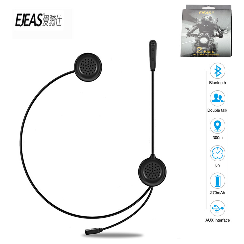 EJEAS E200 300m Bluetooth Motorcycle Helmet Wireless Headset Radio Without Intercom Skiing Communication Moto For 2 Riders Hot