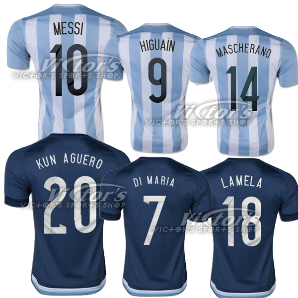 competitive price 7c02c 30202 New Argentina Jersey 2015 Soccer 15 16 2016 MESSI HIGUAIN ...