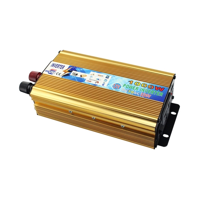DC 12V To AC 220V Car Inverter Rated Power 650W Transformer Power Supply Switch On-board Charger Adapter  Converter Peak 1000W