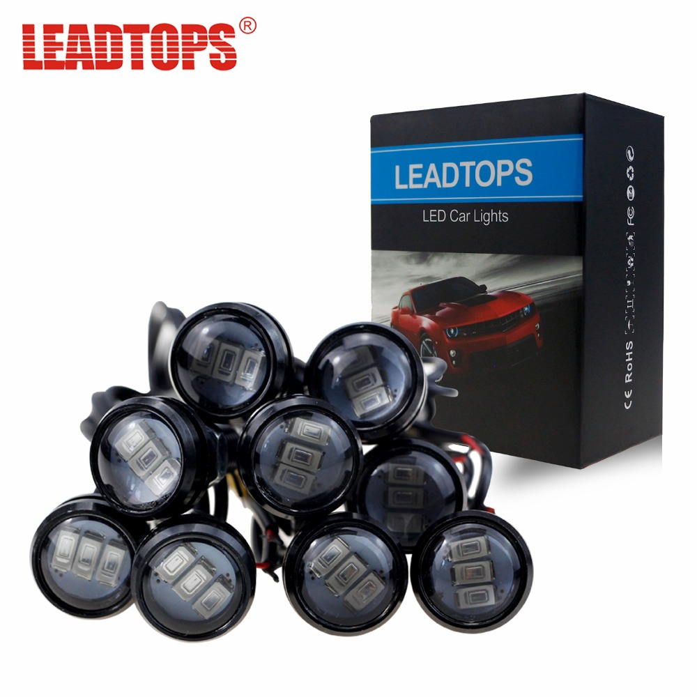 10X 12v Eagle Eye Daytime Running Light Spotlight DRL Small Screw LED Motorcycle Car lamp Source For LEXUS/KIA/VOLVO/BMW/JEEP BF leadtops car led lens fog light eye refit fish fog lamp hawk eagle eye daytime running lights 12v automobile for audi ae
