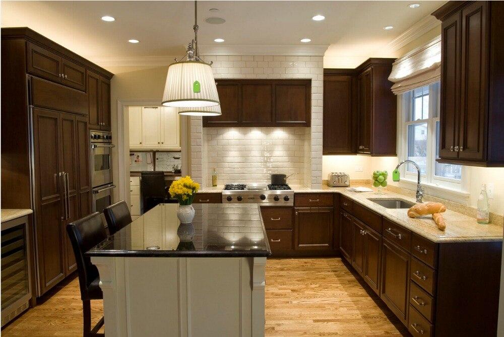 ventas calientes precio barato de madera maciza muebles de cocina de madera muebles de cocina