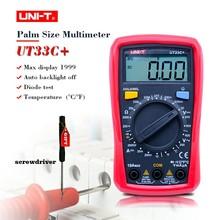Palm Size Digital Multimeters UNI T UT33C Professional Electrical Handheld Tester LCR Meter Ammeter Multitester 40
