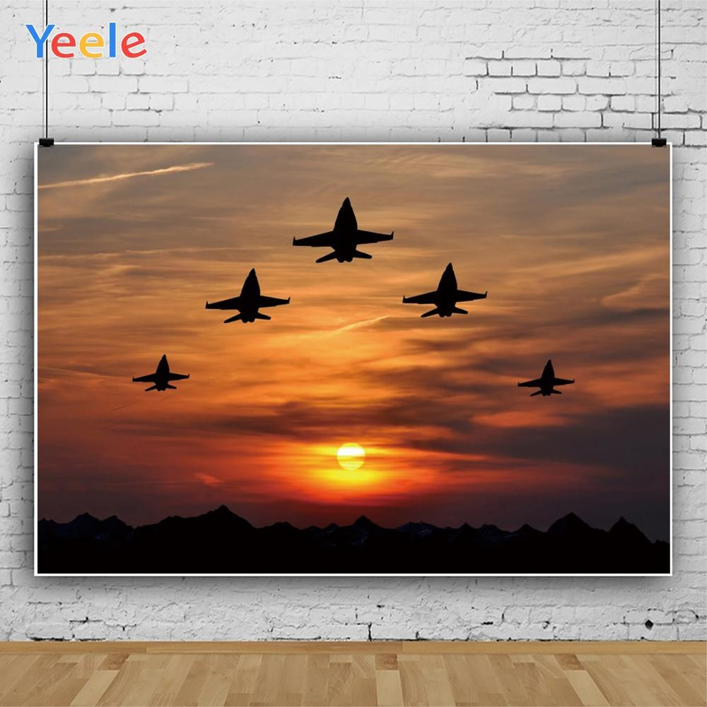 Yeele Photography Backdrops Air show Sunset Aircraft Scenery Wallpapers Of Photographic Backgrounds cloth For the Photo Studio