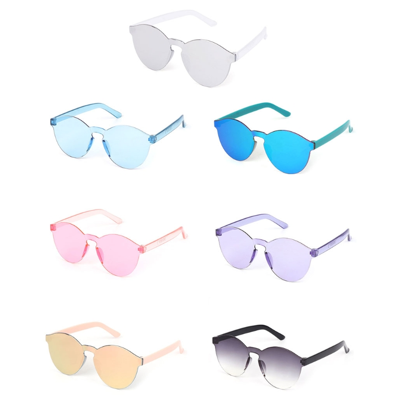 New Kids Sunglasses Colorful Lens Rimless Fashion UV400 Summer Outdoor Protector