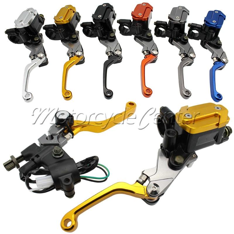 2 pcs 22mm Universal Motorcycle Brake Master Cylinder Reservoir Levers For Suzuki RMZ250 RM85 DRZ 400 S/SM RMZ 250 RM 85
