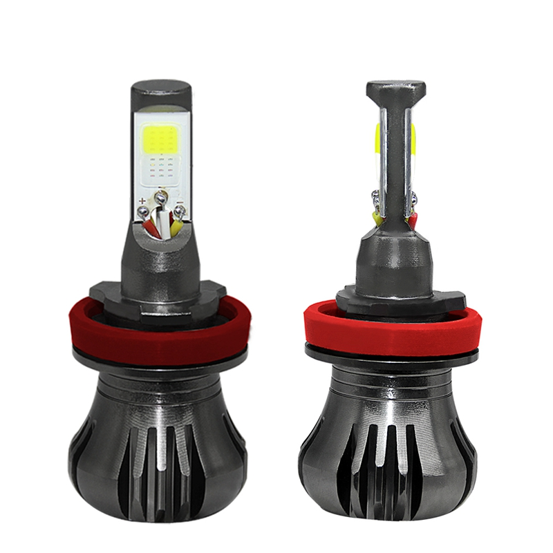 Dhbh-dual Color 6000k White 8000k Blue H8/h9/h11 Car Led Fog Light For Car Truck Suv To Enjoy High Reputation At Home And Abroad Car Headlight Bulbs(led)