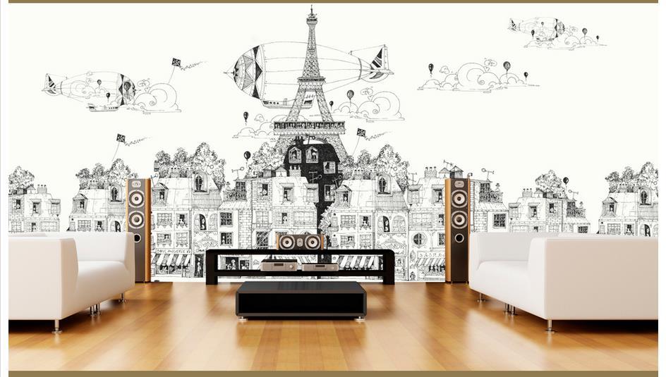 Custom 3d papel tapiz para paredes 3 d murales de pared - Papel autoadhesivo para paredes ...