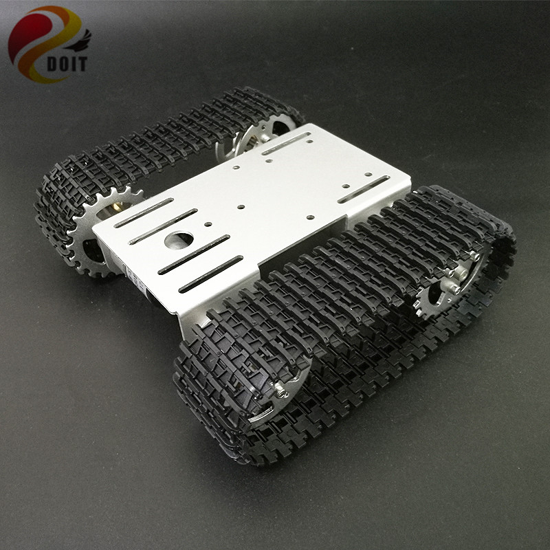 DOIT mini T101 Smart Robot Tank Chassis Tracked Car Platform with 33GB-520 Motor for DIY Robot Graduation RC Robot Toy Part 138t tracked robot tank chassis rc smart crawler tank platform cross obstacle machine with max load 20kg