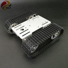 DOIT мини T101 умный робот шасси танка отслежены Автомобильная платформа с 33GB-520 двигателя для мастеров Роботы Выпускной Радиоуправляемый игрушечный робот часть