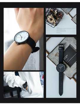 New ultra thin watch for male female 5