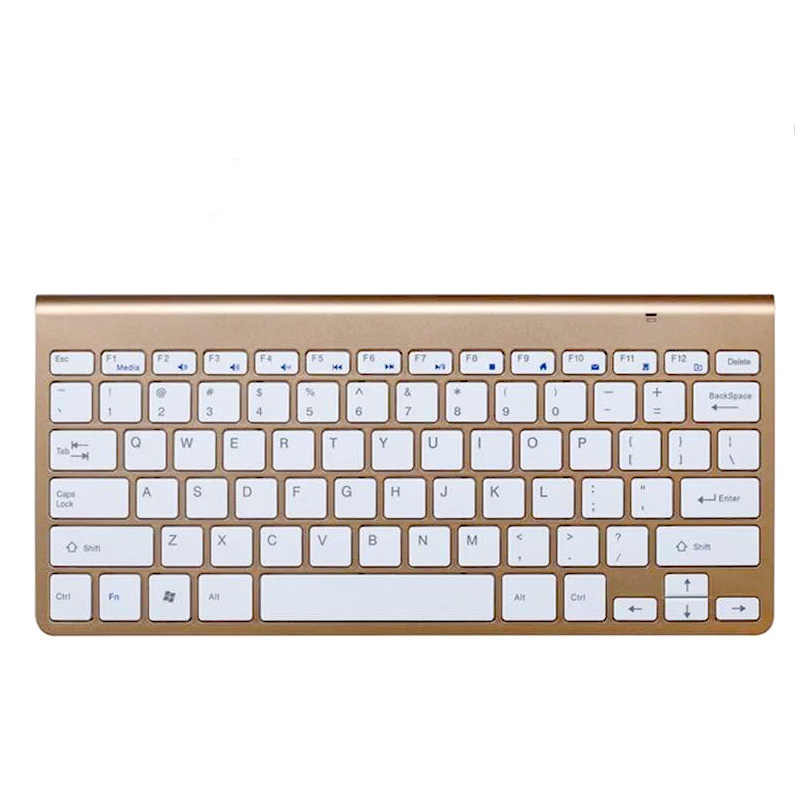 Ultra Mince 2.4GHz Clavier Sans Fil Avec Souris Kit Pour pc de bureau portable Ordinateur JR Offres