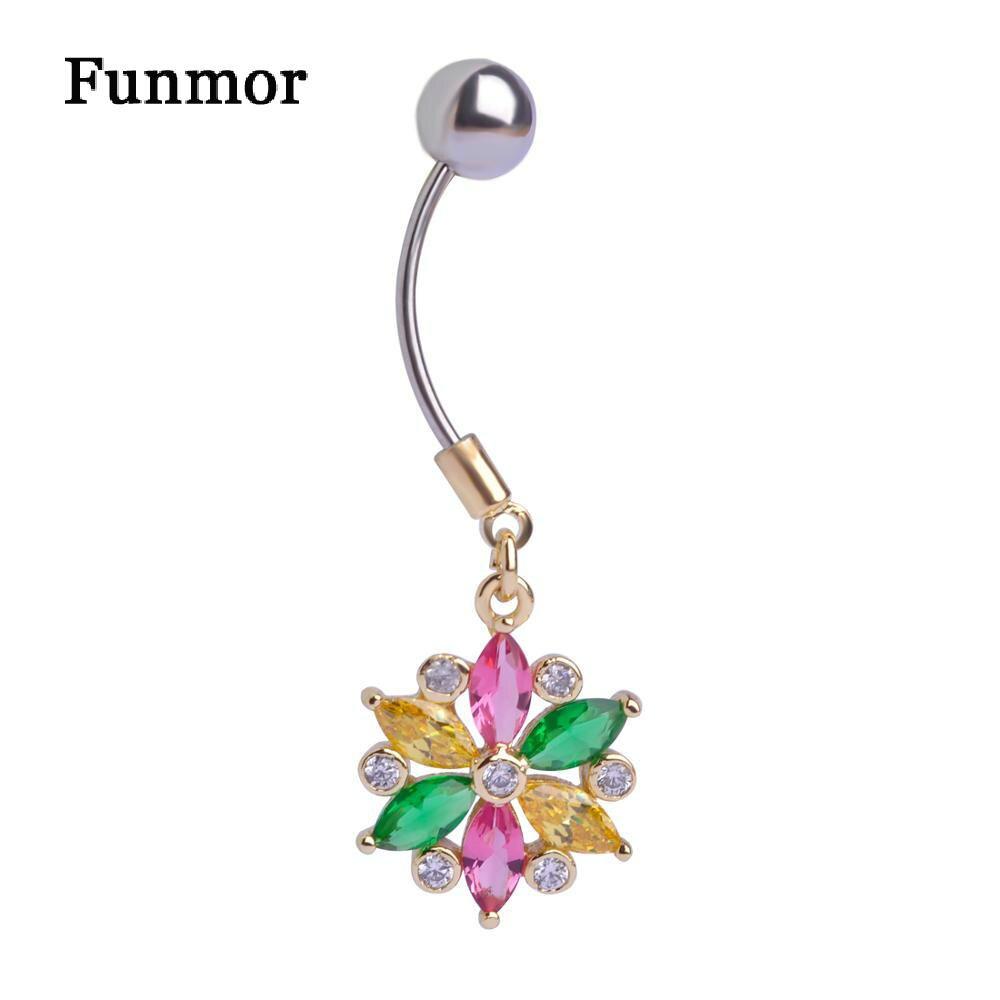 Light Blue Jewelry Snow Flowers Body Jewelry Piercings -2690