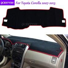 Для Toyota Corolla 2007-2013 коврик на приборную панель защитный интерьер Photophobism коврик тент подушка для автомобиля Стайлинг авто аксессуары