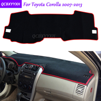 For Toyota Corolla 2007 2013 Dashboard Mat Protective Interior Photophobism Pad Shade Cushion Car Styling Auto