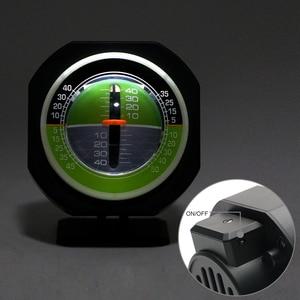 Image 5 - LEEPEE السيارات المنحدر متر مستوى الميل زاوية سيارة البوصلة سيارة الانحدار التدرج عالية الدقة المدمج في LED