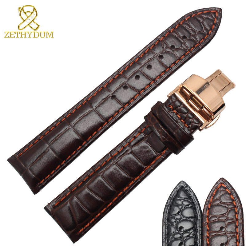 14 16 18 20 22mm wrap leather bracelet caiman watch belt Suitable for FIYTA straps for wrist watches