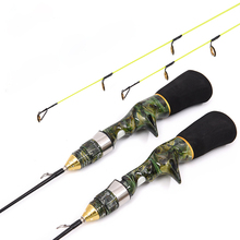 Mini Professional Type 50cm 60cm Ice Fishing Rods Pole Carp Fishing Rod Winter Fishing Tackle  EVA Handle Soft Free shipping