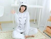 Adult Flannel Lovely Totoro Unisex Pajamas Cosplay Costume Animal Nightwear Onesie Sleepwear Kigurums Winter Anime Pajamas