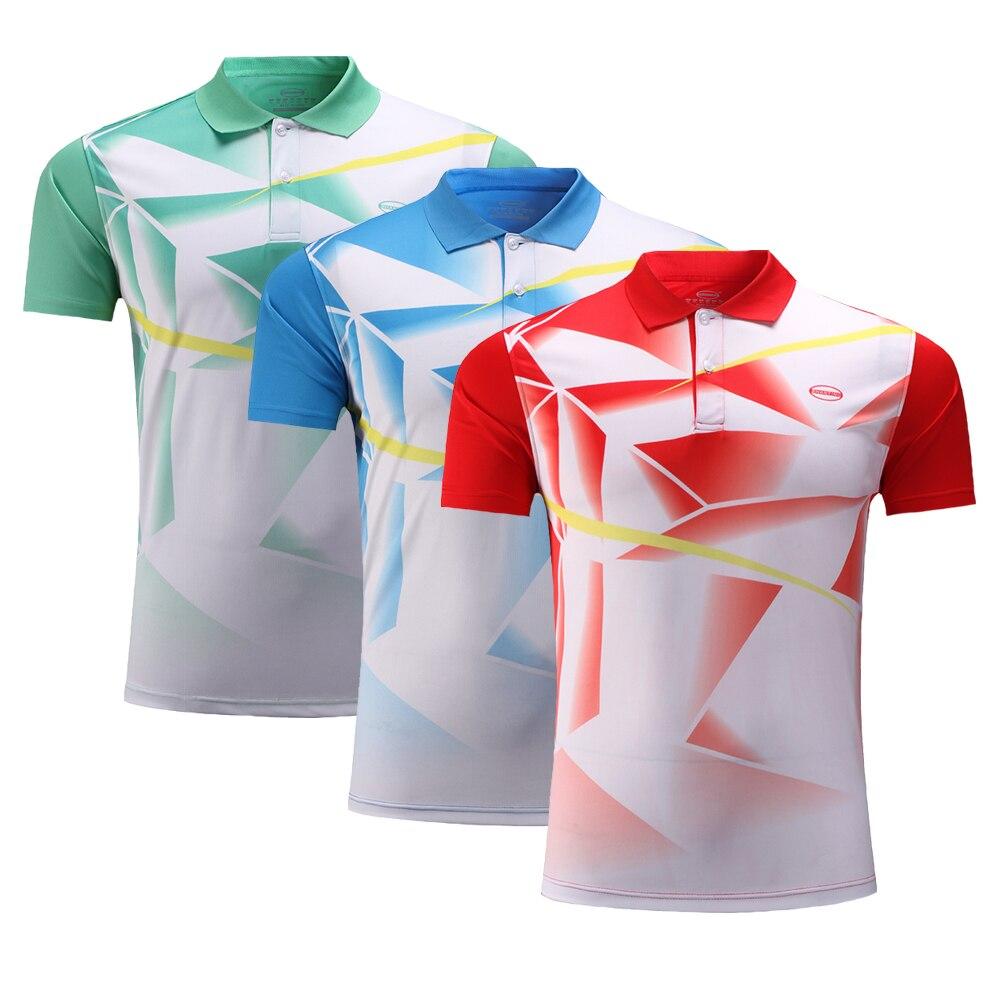 Adsmoney полиэстер quick dry Бадминтон одежда, спортивная рубашка, Теннис футболка, Для мужчин Для женщин Бадминтон рубашка