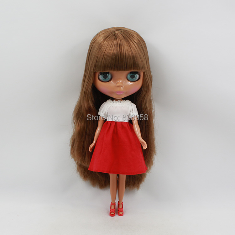 Nude Doll For Series No . BL12489103with bangs BROWN HAIR Black skin Suitable For DIY Change Toy For Girls игра мозаика с аппликацией медовая сказка d10 d15 d20 105 5 цв 6 аппл 2 поля