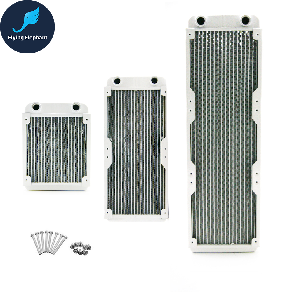White pure Copper 120mm Water Cooling Radiator G1//4 for PC Linquid Water Cooling