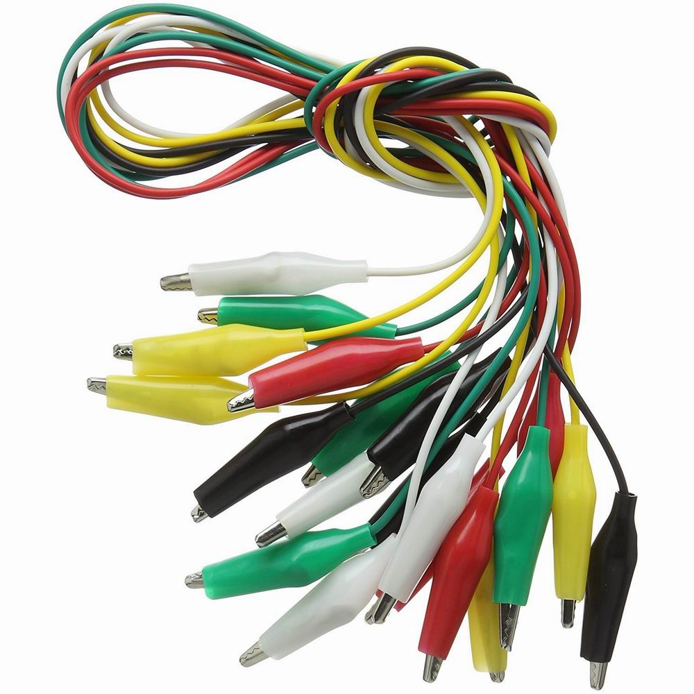 New 10pcs Lot Alligator Clips Electrical Diy Test Leads