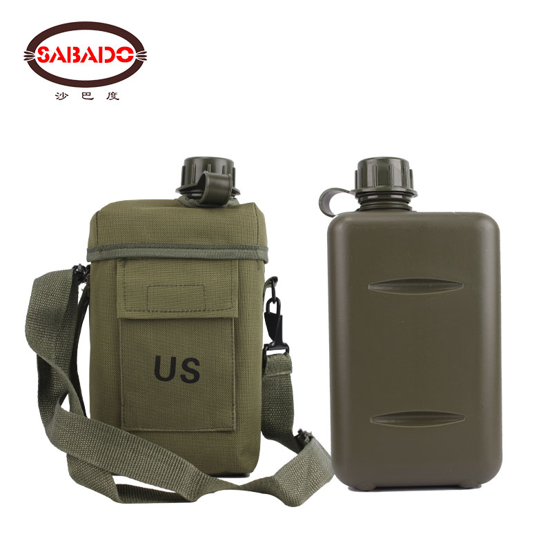 Outdoor Capacity 2L Camping Hiking Climbing Heat-resistant Environment-friendly Plasticizing Watering Can US Canteen Bottle